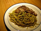 Recipe: Coriander Pesto Pasta with Herbed Fish